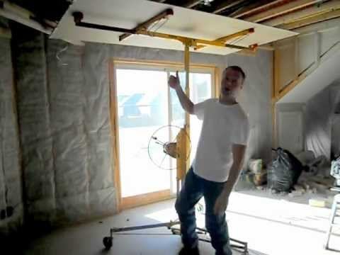 how to put drywall on basement walls