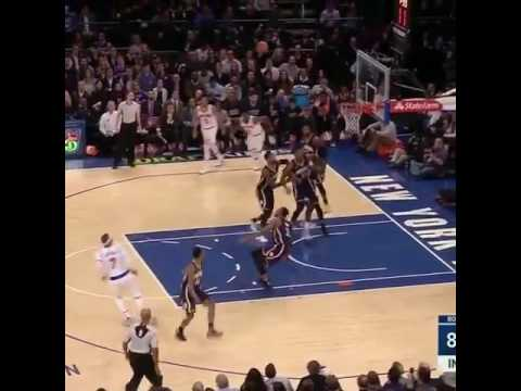 Carmelo Anthony Breaks Thaddeus Young