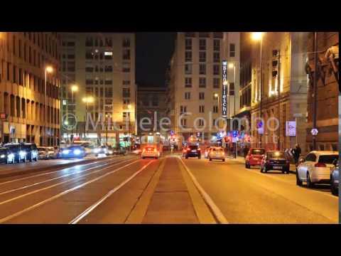 0036 - time lapse - Traffic at nights in Milan