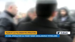 Pazarcık İlçe Polisinden PKK Operasyonunda:8 Tutuklama