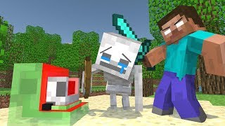 Skeleton vs Slime Life - Minecraft Animation