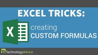 Excel Tricks - Create Custom Formulas in Excel