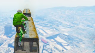 INSANE MILE HIGH BIKE STUNTS! (GTA 5 Funny Moments)