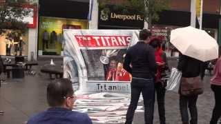 Titan Bet Liverpool Street Art - Liverpool VS Real Madrid Champions League