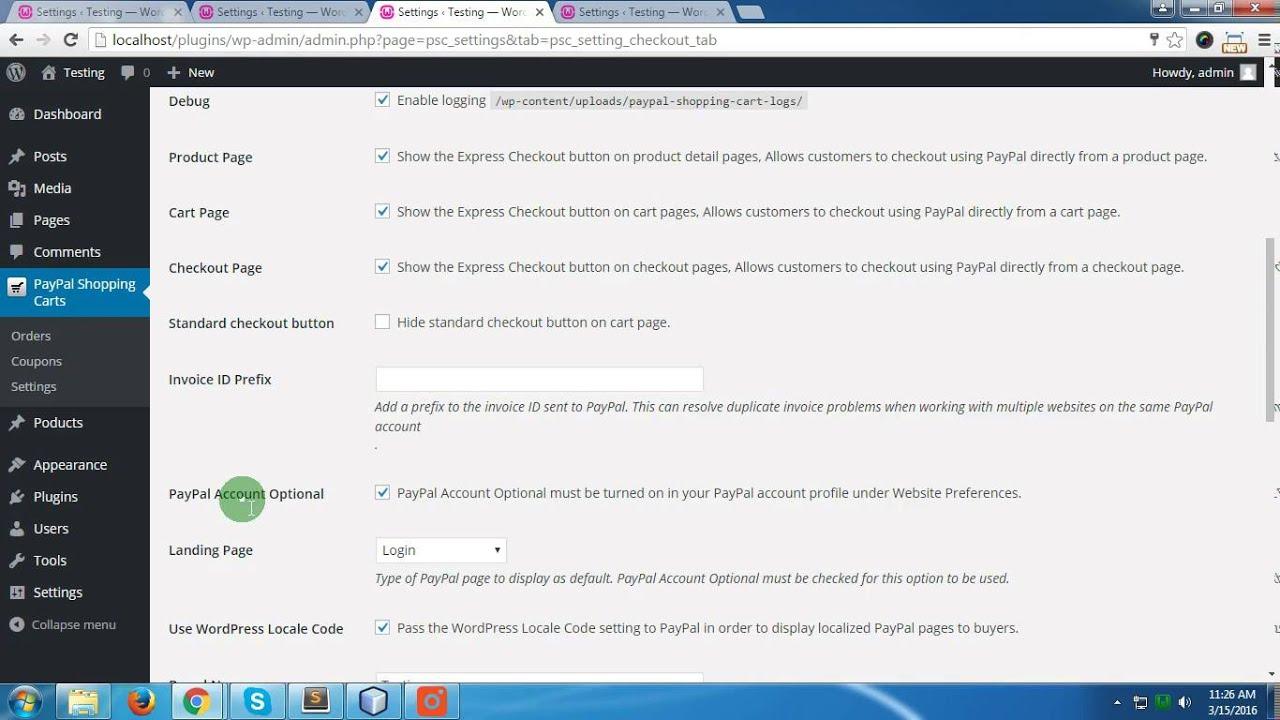 testing on wordpress