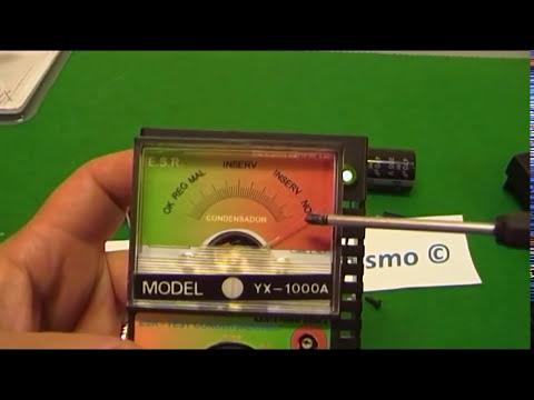 COMPROBADOR CONDENSADORES CASERO Comprobador  Resistencia Serie Condensadores.  E.S.R.  meter