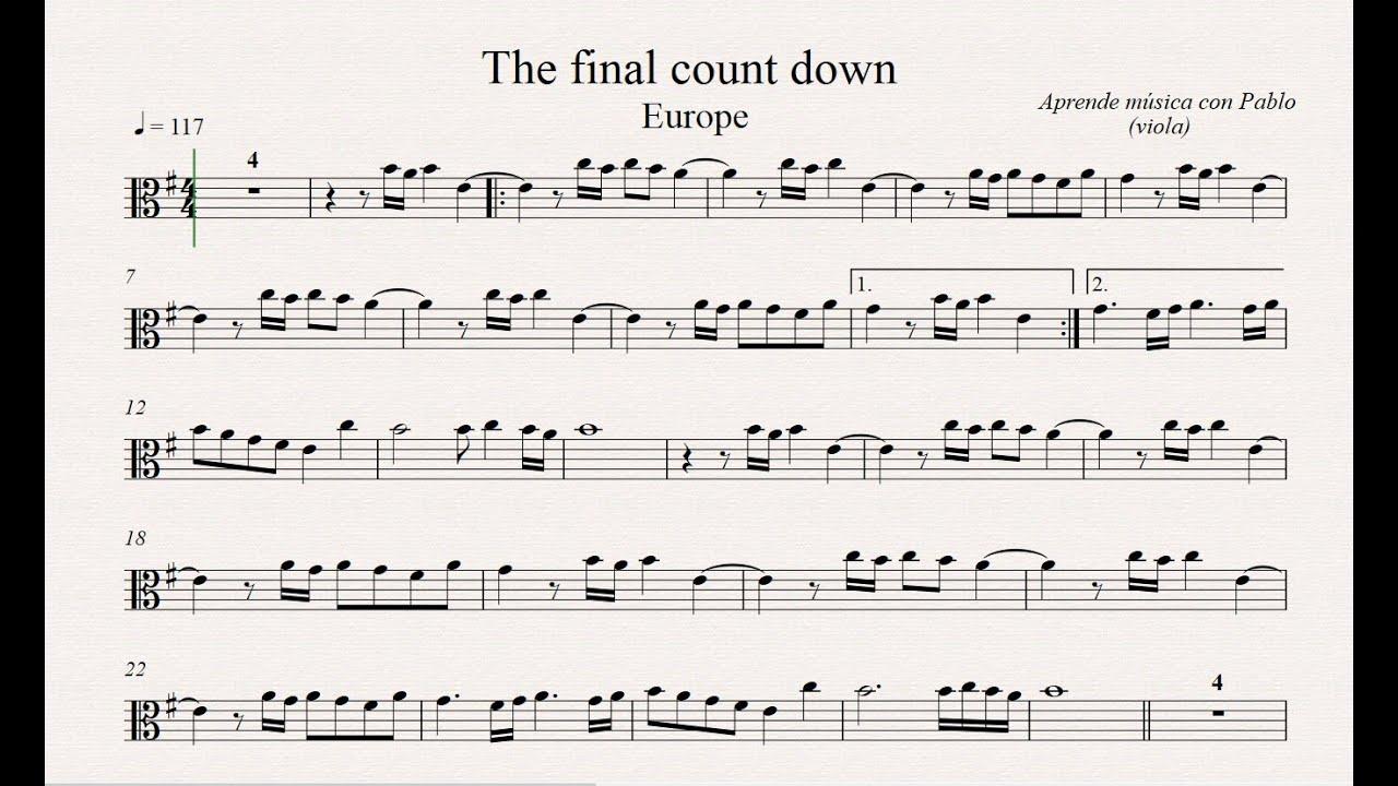 The final countdown viola partitura con playback youtube the final countdown viola partitura con playback hexwebz Gallery