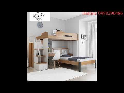 Giường tầng thông minh kết hợp với tủ áo, bàn làm việc...