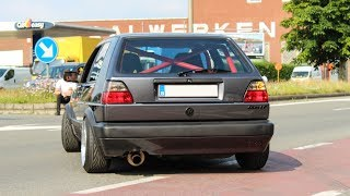 195HP VW GOLF 2 with Ibiza Cupra 6k2 Engine | Wheelspins, accelerations, sounds
