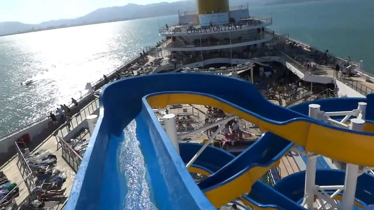 Tobog n de agua crucero costa fortuna youtube for Toboganes para piscinas
