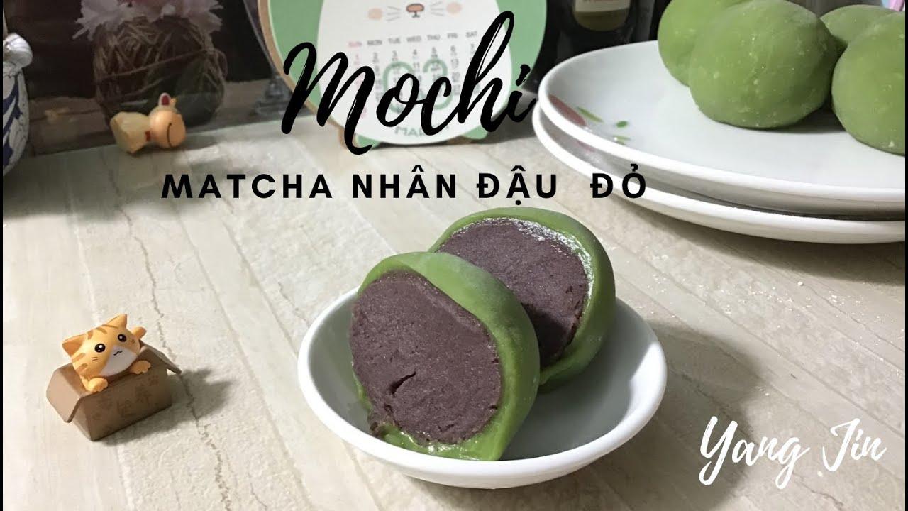 Bánh mochi matcha nhân đậu đỏ | Yang Jin làm bánh