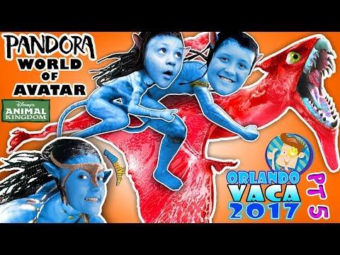 DISNEY'S WORLD OF AVATAR! Pandora Theme Park Ride Animal Kingdom Flight of Passage  FUNnel Summ