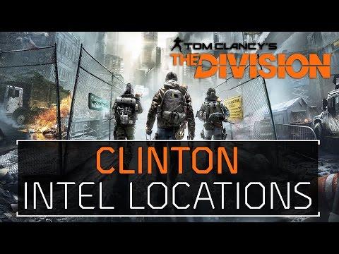 The Division • Clinton Intel Locations Echos, Guides, Phones, Incidents, Agents, & Drones