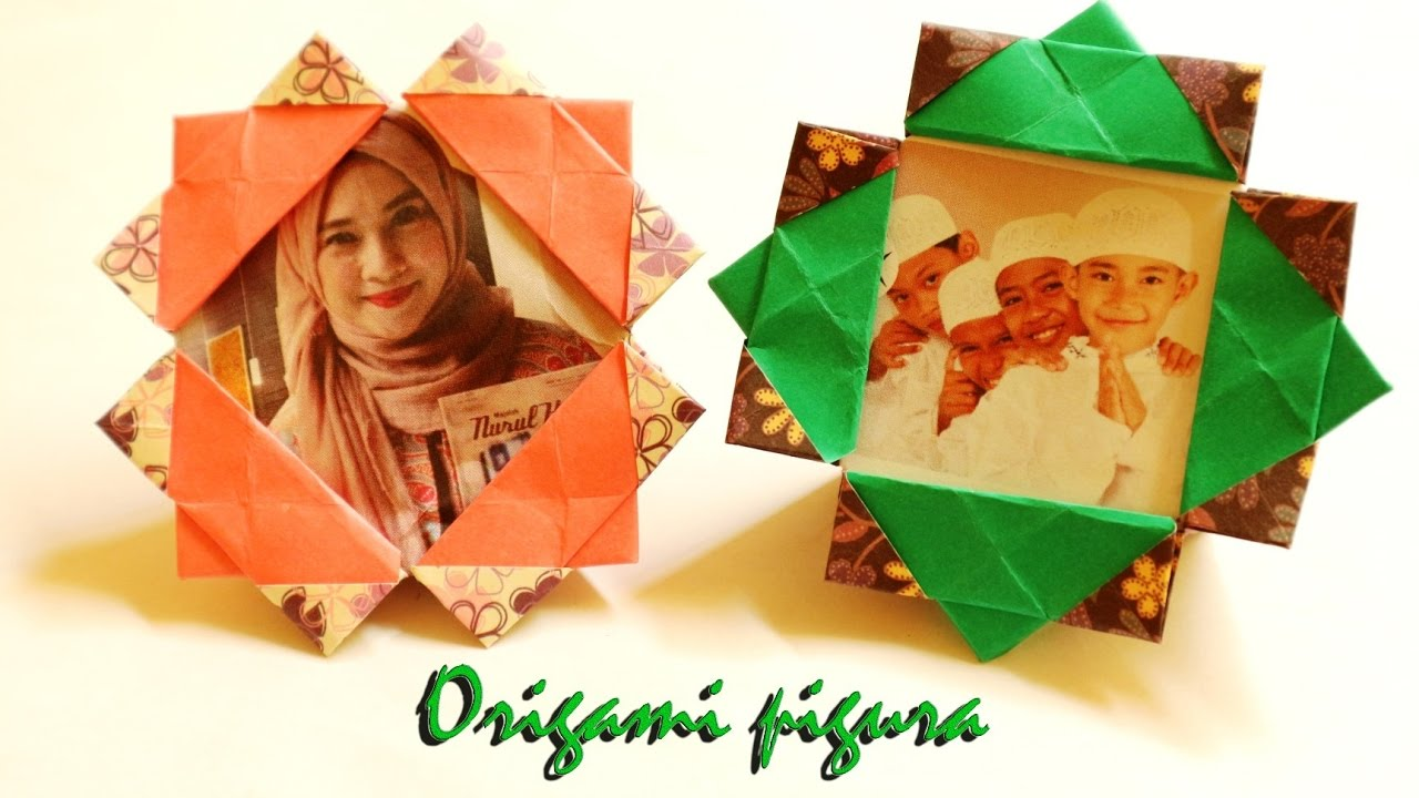 Origami Photo Frame Bisa Berdiri Diy Origami Frame Tutorial Youtube