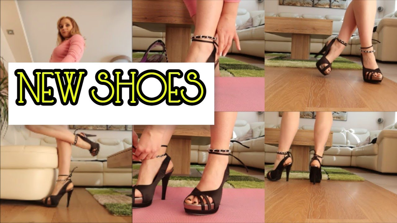 Open Toe High Heels with a Chain