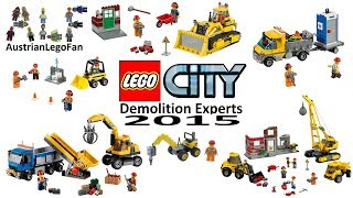All Lego City Demolition Experts Sets 2015 - Lego Speed Build Review