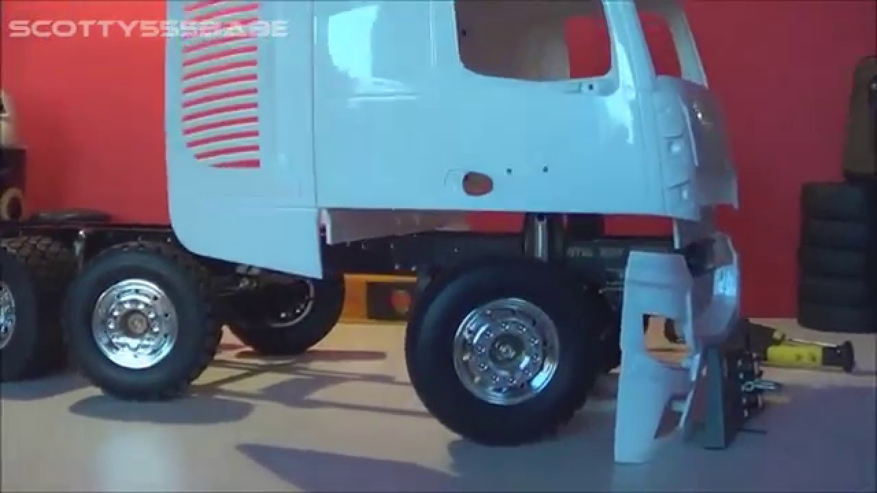 Rc mercedes benz actros slt 1 14 the build part 5 for Mercedes benz truck parts