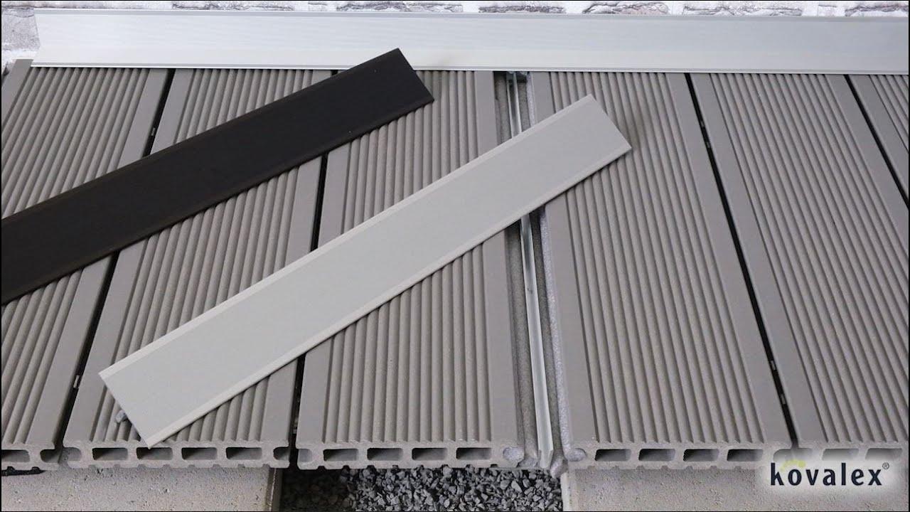 Kovalex Übergangsprofil Geeignet für Terrassendielen, 20 x 20 x ...