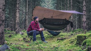Solo Camping In A Hammock