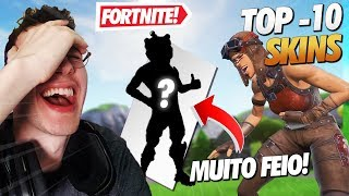 TOP 10 WORST SKINS OF THE FORTNITE!