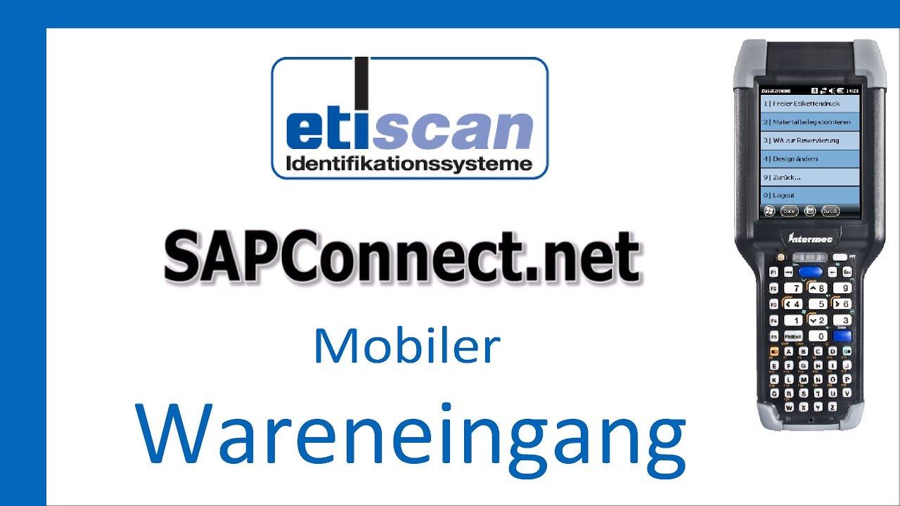 Etiscan SAPConnect net Wareneingang zur Bestellung Demo
