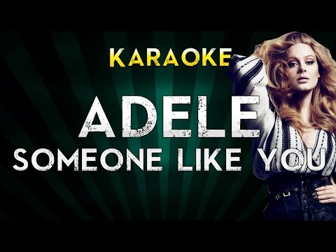 Adele - Someone Like You  Karaoke Instrumental  Cover Sing Along
