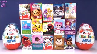 Chocolate Surprise Kinder Eggs Christmas Peppa Pig Paw Patrol Doc McStuffins CARE BEARS LALALOOPSY