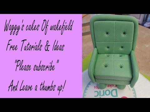 how to make a Gum Paste Arm chair tutorial