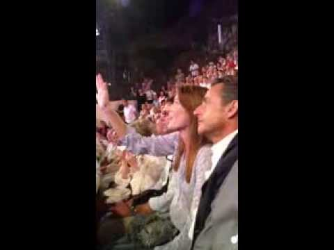 Carla Bruni et Nicolas Sarkozy ce soir au festival de Ramatuelle #NS