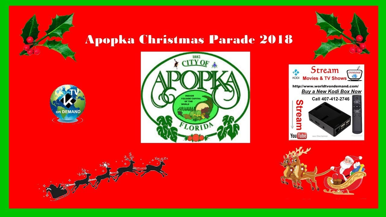 Apopka Florida Christmas Parade 2018 - YouTube