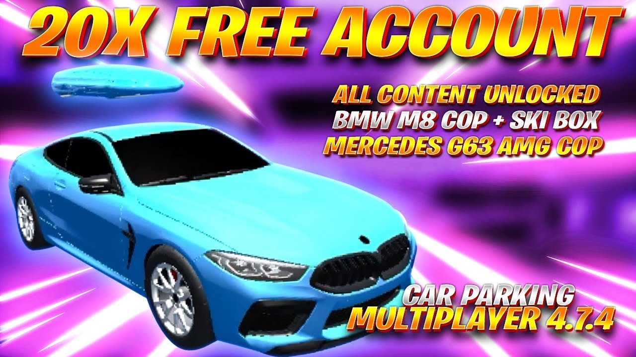20x Free Accounts 4 7 4 Bmw M8 Skibox New Cars Link In Description Car Parking Multiplayer Youtube