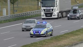 Autobahnpolizei bremst Verkehr