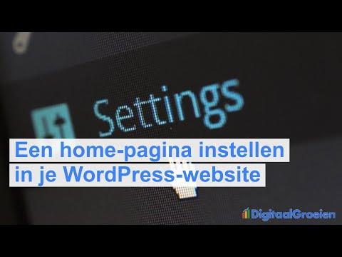 Je homepage instellen