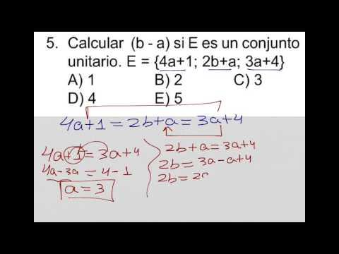 Como resolver un conjunto unitario