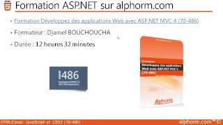 alphorm.com | Présentation de la Formation HTML5,CSS3 et JavaScript 70-480