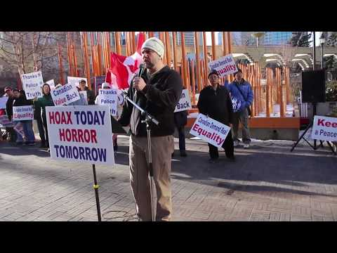 Calgary Protest Against Trudeau and CBC for Spreading Hijab Hoax Story