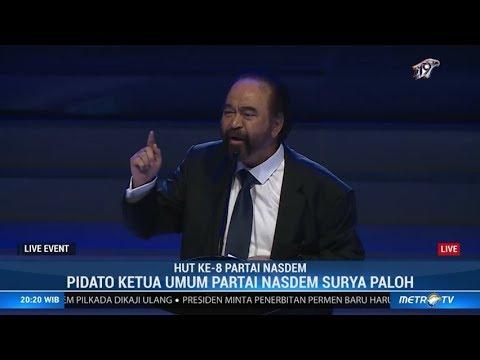 Pidato Surya Paloh di depan Jokowi: Saya diminta Kongres untuk jadi Capres 2024