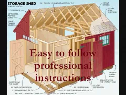 How to Build a Shed |  Storage Shed Blueprints and Plans  & How to Build a Shed |