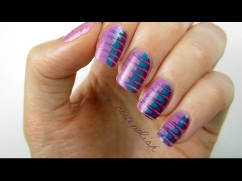 Radiant Orchid Nails (using a toothpick!)