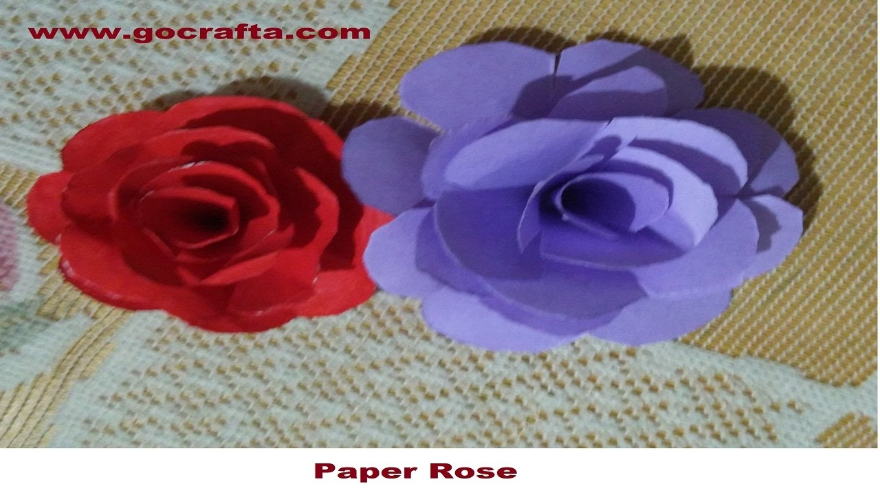 Diy Art And Craft How To Make Paper Rose Flowers Easy In Hindi