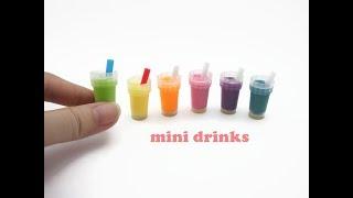 DIY Miniature Doll Mini Drinks - Very Easy!