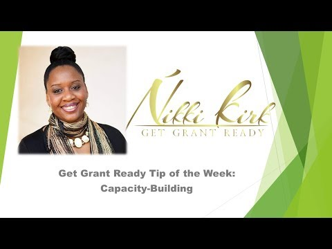 Get Grant Ready- Capacity Building Tip #1