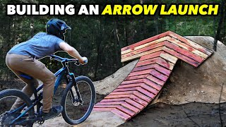 Building a Wooden MTB Jump shaped like a Big Arrow! // Subscriber Trail pt. 7