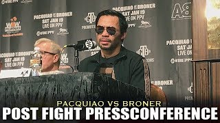 PACQUIAO TELLS THEIR GAMEPLAN AGAINST BRONER   POST FIGHT PRESS-CONFERENCE