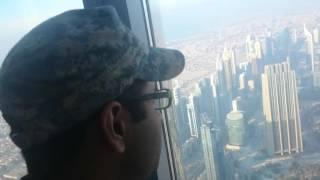 View from the top of Burj Khalifa in Dubai