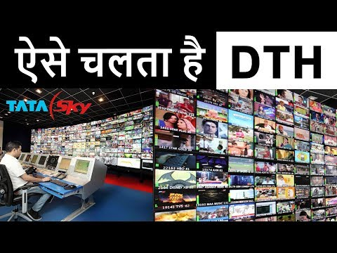 How DTH Works via Satellite in HINDI | Real Cost Of TV Channels | Satellite TV vs Cable TV Working