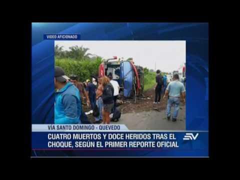 Cuatro muertos y doce heridos tras accidente de tránsito en Santo Domingo