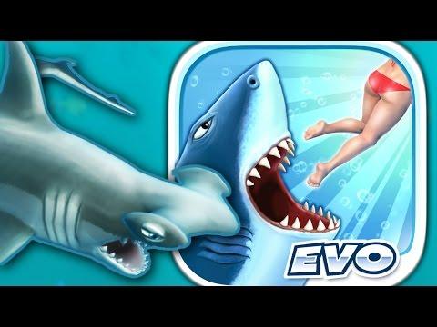 HAMMERHEAD SHARK - Hungry Shark Evolution - Part 4 (iPhone Gameplay Video)