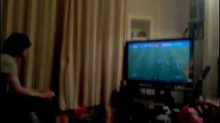 Biggest Rage Ever! Guy Smashes Tv!!! (original)