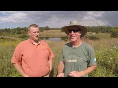 Quail Forever, farm Bill Wildlife Biologist Ryan Diener onsite at Prairie Star Restoration Farm
